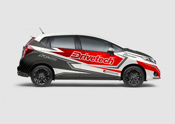 Decal Sticker Honda Jazz RS Drivetech