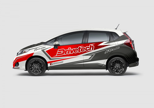 Decal Sticker Jazz Drievetech Red White Racing