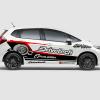 Decal Sticker Honda Jazz RS Drivetech Turbo Desain