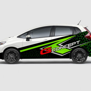 Decal Sticker Jazz RS G-Concept Green Desain
