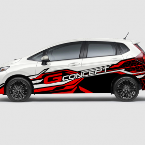 Decal Sticker Jazz RS G-Concept Red Desain
