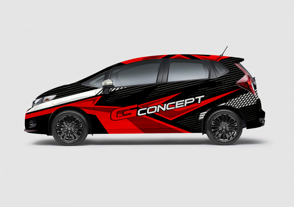 Decal Sticker Jazz RS G-Concept Black Red Street