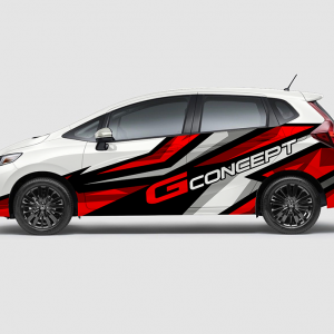 Decal Sticker Honda Jazz RS G-Concept Racing