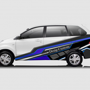 Decal Sticker Toyota Avanza Modern Desain Purple