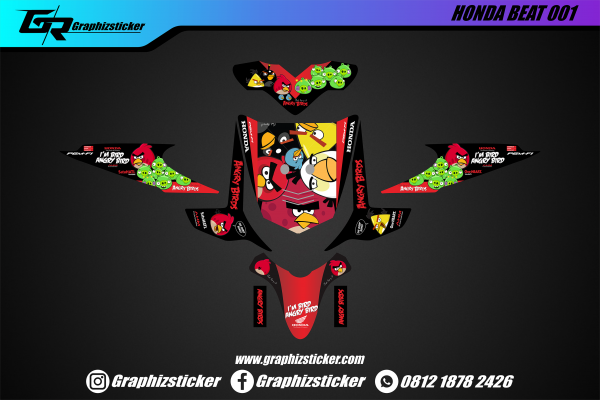 Decal Striping Honda Beat Angry Birds