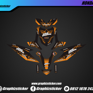 Decal Striping Honda Beat No Fear