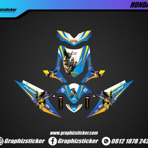 Decal Striping Honda Beat Marvel Wolverine
