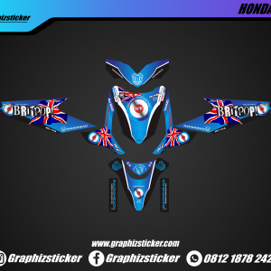 Decal Striping Honda Beat Radiohead