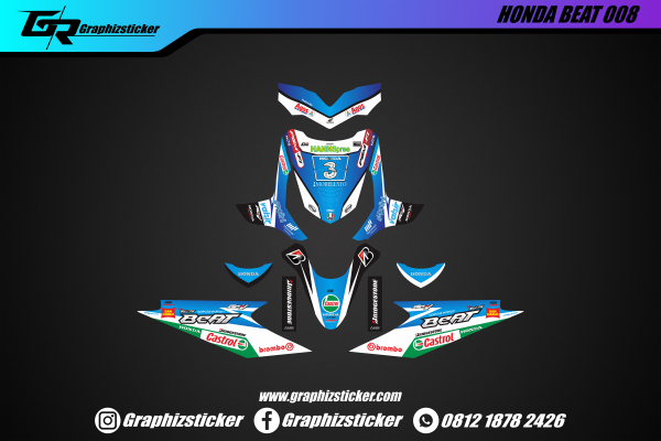 Decal Striping Honda Beat Special Edition RCV