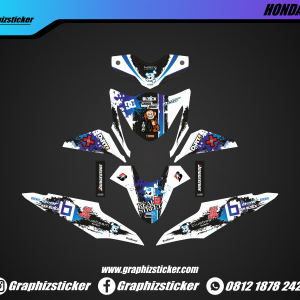 Decal Striping Honda Beat Shining Monkey