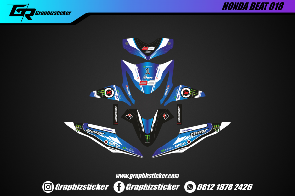 Decal Striping Honda Beat Jorge Lorenzo