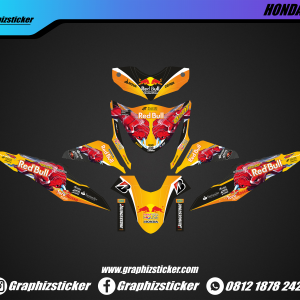 Decal Striping Honda Beat Red Bull