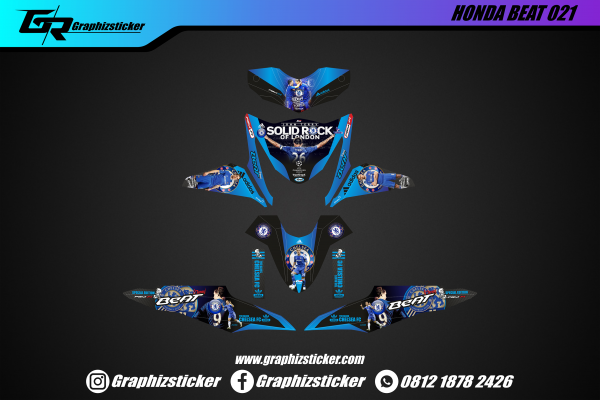 Decal Striping Honda Beat Chelsea