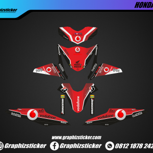 Decal Striping Honda Beat Vodafone