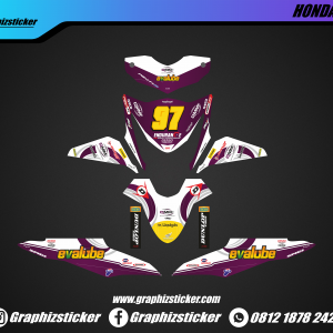 Decal Striping Honda Beat Evalube