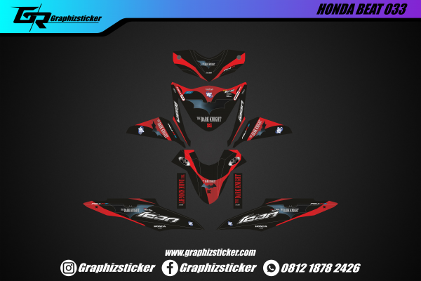 Decal Sticker Honda Beat The Dark Knight