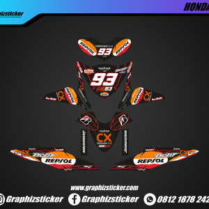 Decal Sticker Honda Beat Repsol Hitam Oranye