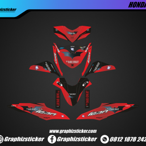 Decal Sticker Honda Beat The Dark Kninght Merah Hitam