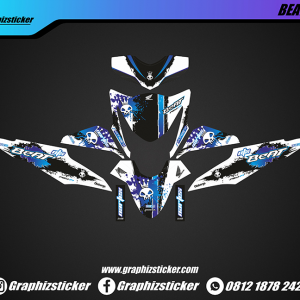 Decal Sticker Honda Beat Nartex Putih