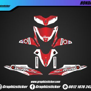 Decal Sticker Honda Beat Lorenzo Merah