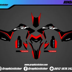 Decal Sticker Honda CRF Hitam Merah