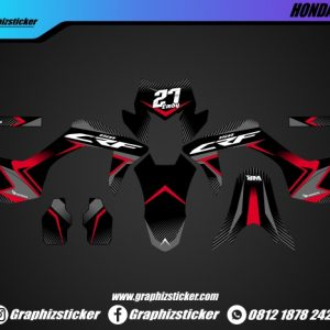 Decal Sticker Honda CRF Hitam Putih