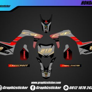 Decal Sticker Honda CRF Hitam Emas