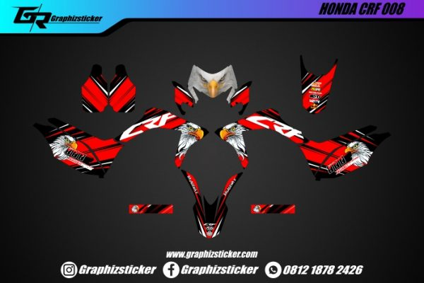 Decal Striping Honda CRF Eagle White