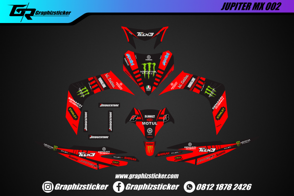 Decal Striping Yamaha Jupiter MX Monster Energy