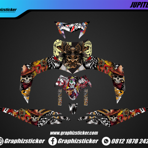 Decal Striping Yamaha Jupiter MX Skull