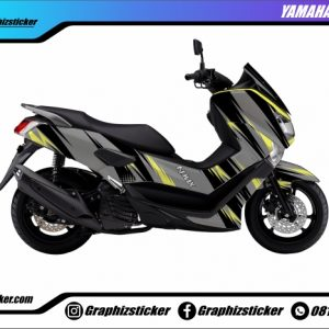 Decal Striping Yamaha NMax Abu Kuning