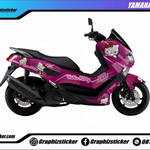 Decal Striping Yamaha NMax Hello Kitty