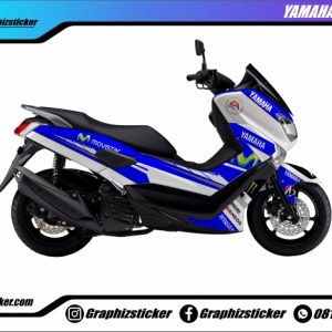 Decal Striping Yamaha NMax Movistar