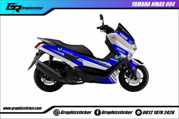 Decal Striping Yamaha NMax Movistar