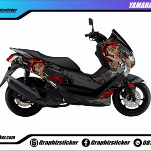 Decal Striping Yamaha NMax Lady Rose