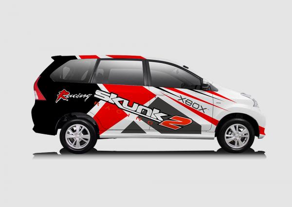 Decal Sticker Toyota Avanza Skunk Desain