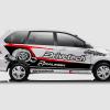 Decal Sticker Toyota Avanza Drivetech Turbo Desain