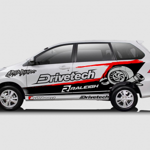 Decal Sticker Toyota Avanza Drivetech Turbo Desain