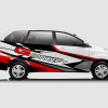 Decal Sticker Toyota Avanza G-Concept Red Racing