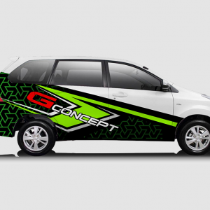 Decal Sticker Toyota Avanza G-Concept Green Racing