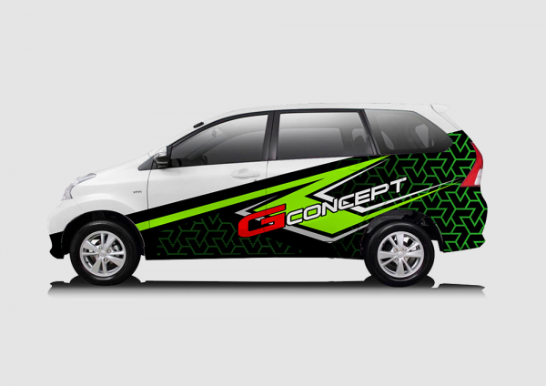 Decal Sticker Avanza G-Concept Green Racing