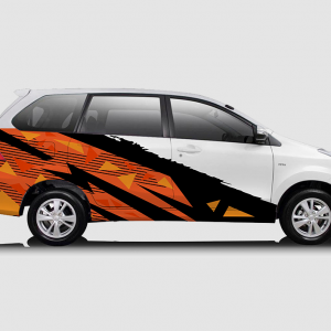 Decal Sticker Toyota Avanza Oranye Hitam Racing