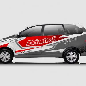 Decal Sticker Toyota Avanza Drivetech Merah Abu