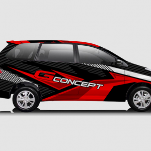 Decal Sticker Toyota Avanza Red Black Street