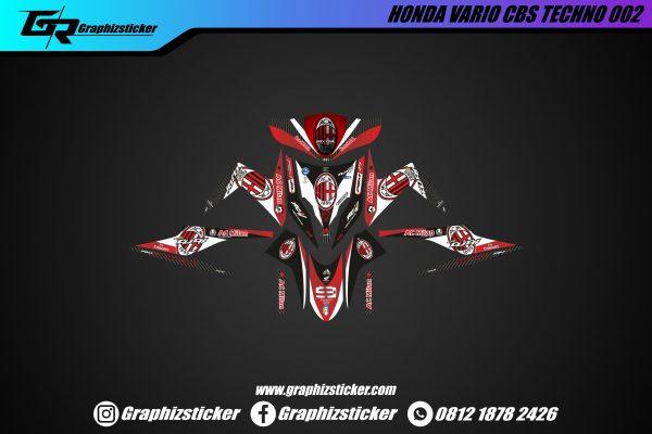 Decal sticker Honda Vario CBS AC Milan menggunakan bahan vinyl berkualitas, bisa request warna sesuai keinginan customer, Terbaik Cikarang Bekasi.